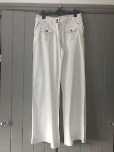 Next White Linen Trousers 12L