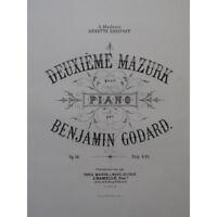 GODARD Benjamin Deuxième Mazurk Piano ca1880 partition sheet music score