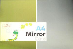 A4 NEW SHINY SILVER GOLD MIRROR SHEETS CARD MAKING CRAFTING ART