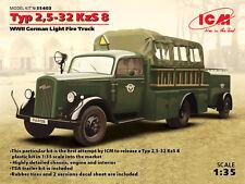 ICM 1/35 OPEL BLITZ Typ 2,5 -32 kzs 8 II Guerra Mundial Alemán Luz