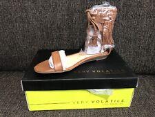 NEW Very Volatile AUBREY Flat Sandal Size 7 Tan Fringe Los Angeles NIB