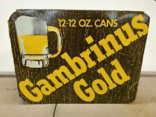 Gambrinus Gold Pittsburgh Brewing 12 bottom opened cans bar display movie props