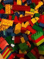 100 Pieces Of Genuine Lego Duplo Just Blocks Around 1kg Of Bricks