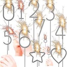 Zahlen Wunderkerzen Deko Kindergeburtstag Geburtstag Party Silvester Sparkler