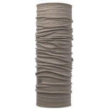 Buff Merino Wool Multifunctional Neck Warmer Headwear Scarf Walnut Brown