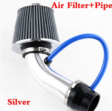 "Car Truck 3"" Accessories Aluminum Air Intake Pipe+ Silver Cold Air Intake Filter"