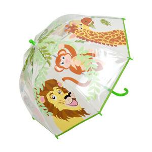 DUA Lighweight Kids Transparent Dome Umbrella Safari