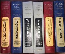 Art Sales Index Hislop volumes 1985 '86 '87 '91 '92