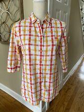 Guy Laroche Paris Vintage 100% Cotton Button Down Blouse Size 42 / Us Size 12