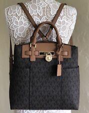 Michael Kors Hamilton Traveler Large Convertible Backpack Brown Acorn