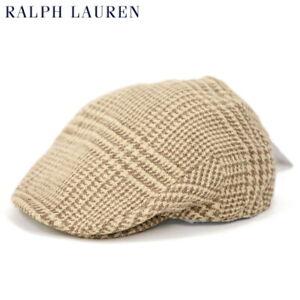 Polo Ralph Lauren Tweed Driving Cap Hat - Heritage Brown - Size: L/XL