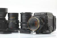 【Mint w/ Golden Lizard + 2backs Hood】 Mamiya RB67 Pro S C 127mm 250mm from JAPAN