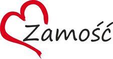 """AUTO Adesivo """"Zamosc"""" sticker città Polonia circa 8x16cm contorno tagliati"""