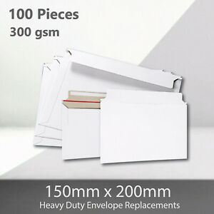 100x Card Mailer 150 x200mm 300gsm Heavy Duty Envelope Tough Bag Replacements