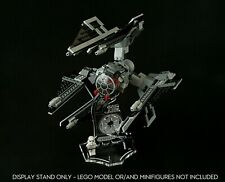 Display stand 3D angled +slots for Lego 8087 TIE Defender (A1062)