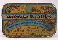 Allenbury's Pastilles Tin Candy Black Currants London England Vintage AS IS