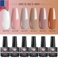 Meet Across 6Bottles/set 8ml UV Gel Nail Polish Soak Off Varnish Manicure Tips