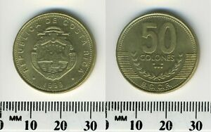 Costa Rica 1999 - 50 Colones Brass Coin - National arms