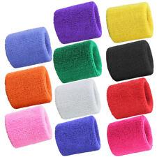 3 inch Cotton Sweatbands Wristbands Wrist Sweat Bands Gymnastics Running Cycling