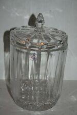 St. George Crystal Biscuit Jar Clear
