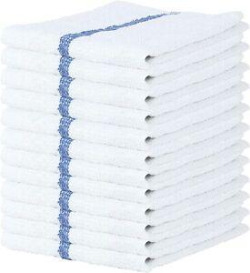 Bar Mop 12-24 Pcs 16x19 Bar Mop Kitchen Towels Dishcloth Towel 100% Cotton