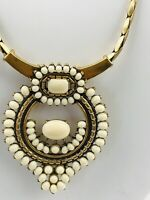 Stella and Dot Gold Tone Statement Pendant Adjustable Chain Necklace 27 Inch