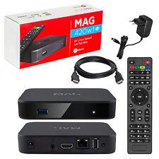 Mag 420w1 IPTV HEVC h.265 4k blindados 60fps Linux USB LAN Internet TV HDMI WiFi