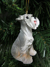 Sitting Schnauzer Puppy Dog Christmas Tree Ornament New Stocking Stuffer Gift