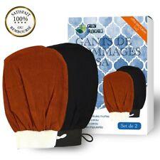 Set de 2 gants de crin pour Hammam, Gant de Friction naturelle