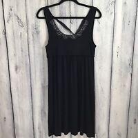 Ann Taylor Loft Womens Dress Size Small Sleeveless Jeweled Neck Blue Soft