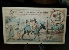 Vintage 1880s Trade Card - Black Americana New Home Sewing Machines Peterboro Nh