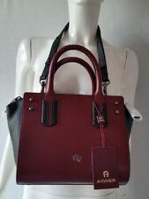 AIGNER Handtasche Valeria Burgundy / schwarz S Leder *NEU