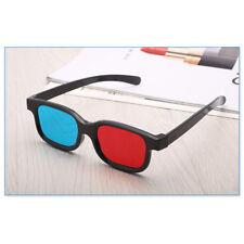 Hot Red Blue 3D Glasses Black Frame For Dimensional Anaglyph TV Movie DVD Game