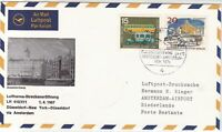 Germany 1967 Dusseldorf-New York Lufthansa LH410 Town Pic Stamps Cover Ref 28780