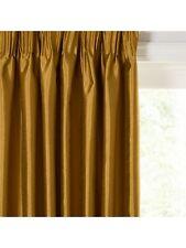 John Lewis Faux Silk Pencil Pleat Curtains, Tigers Eye W 97 x D 276cm