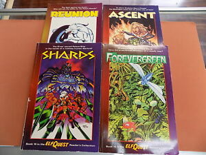 Lot of 4 Elf Quest graphic novels - Wolfrider Books - USED!