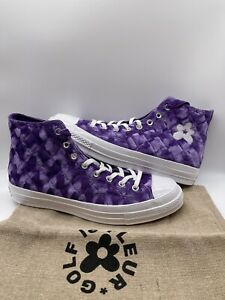 Converse ONE STAR OX GOLF LE FLEUR Purple Quilted Velvet Tyler Creator Size 10