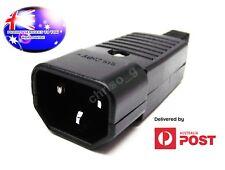 From OZ Quality 1PC 250v 10A Appliance Male 3 Pin Plug Socket IEC C13 Black + FP
