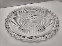 Cake Stand Maroon Jam Jar Lid Clear Glass Relish Tray w// Fiesta ware Cinnabar