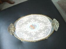 Petit Point Embroidered Vanity Dressing Table Tray