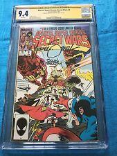 Marvel Super Heroes Secret Wars #9 - Marvel - CGC SS 9.4 -Signed by Zeck, Beatty