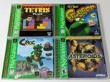 Tetris Plus, Frogger, Croc & Asteroids Complete Games - Playstation 1 PS1 System