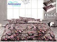 Completo letto, Lenzuola, 100% Cotone AMBROSIANA - LOVE. Matrimoniale - 2 piazze