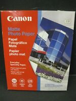 """Canon Photo Paper matte """"8.5 x 11"""" 50 Sheets new old stock 2 packages"""