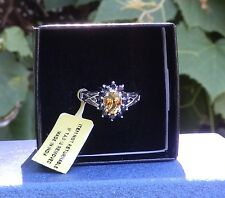 Citrine and Amethyst Sterling Silver Ring Size  7