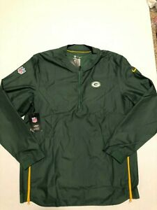 Nike Men's Green Bay Packers  Lockdown Quarter Zip Jacket  M NFL NWT