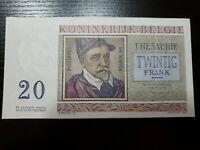 🇧🇪 Belgium 20 francs  P-132b  03-04-56  1956  XF/EF Banknote 030621-6