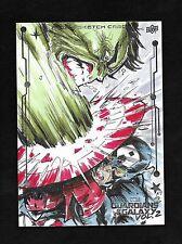 2017 Guardians of the Galaxy 2 Hulk & Captain America 5x7 Sketch Geoffrey K Gwin