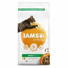 IAMS for Vitality Adult Dry Cat Food With Fresh Chicken 800g Biscuit Feed Mix