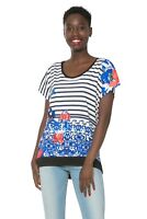 Gorgeous Desigual T Shirt Top With Great Beading & Sequin Detail XL(UK16/18),NWT